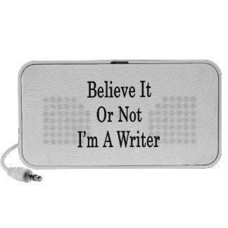 Crea que o no yo es escritor laptop altavoces