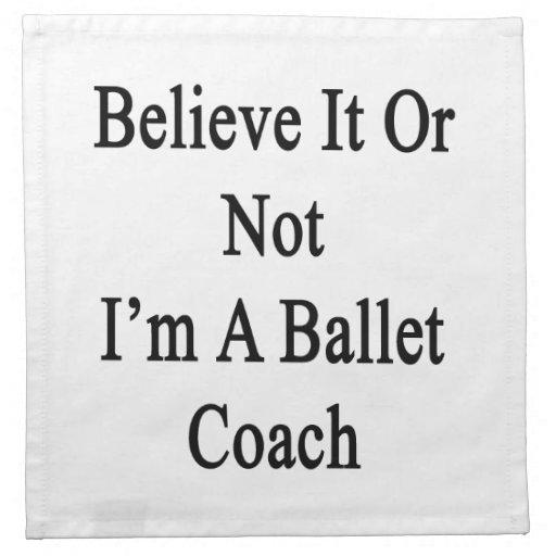 Crea que o no yo es un coche del ballet servilleta