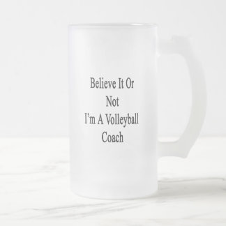 Crea que o no yo es un coche del voleibol taza cristal mate