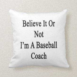 Crea que o no yo es un entrenador de béisbol almohadas