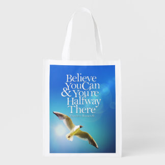 Crea que usted puede cita de motivación altísima bolsa reutilizable