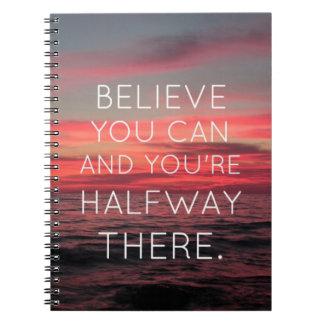 Crea que usted puede, y su intermedio allí libros de apuntes