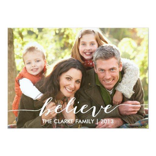 Crea simplemente la tarjeta de la foto del día de invitación 12,7 x 17,8 cm