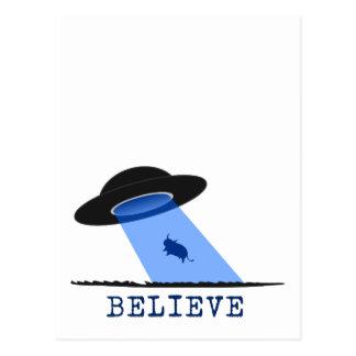 Crea (UFO que emite encima de vaca) Postal