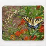 Crea w/Butterfly y las flores Alfombrilla De Ratón