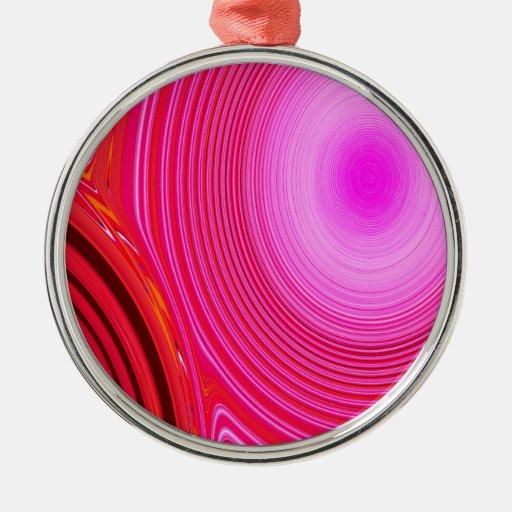 Creación abstracta adorno redondo plateado