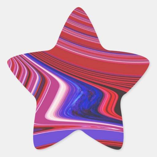Creación abstracta calcomanías forma de estrellaes