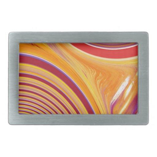 Creación abstracta hebilla cinturon rectangular