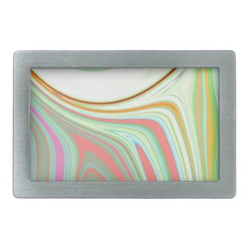 Creación abstracta hebillas cinturon rectangulares