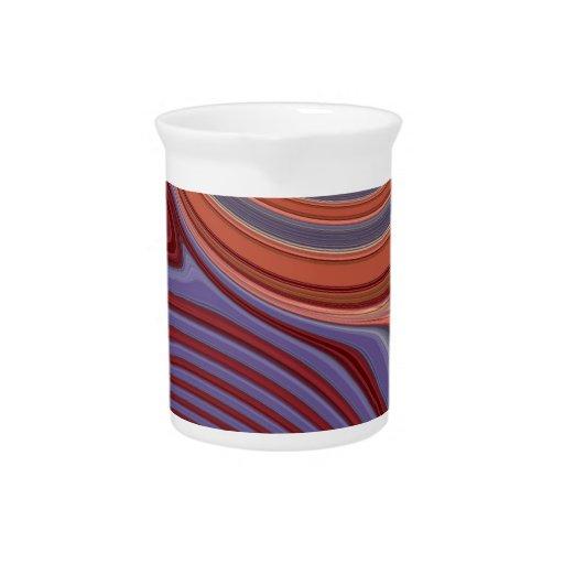 Creación abstracta jarras para bebida
