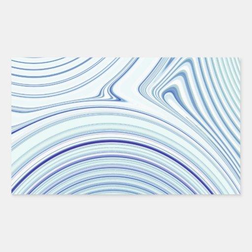 Creación abstracta pegatina rectangular