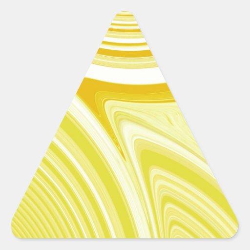 Creación abstracta pegatina triangular