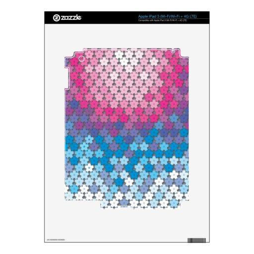 "Creación colorida ""flores de cerezo "" del modelo iPad 3 pegatinas skins"