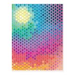 """Creación colorida """"luz de las estrellas """" del mode tarjetas postales"""