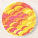 """Creación colorida """"plumas """" del modelo posavasos manualidades"""