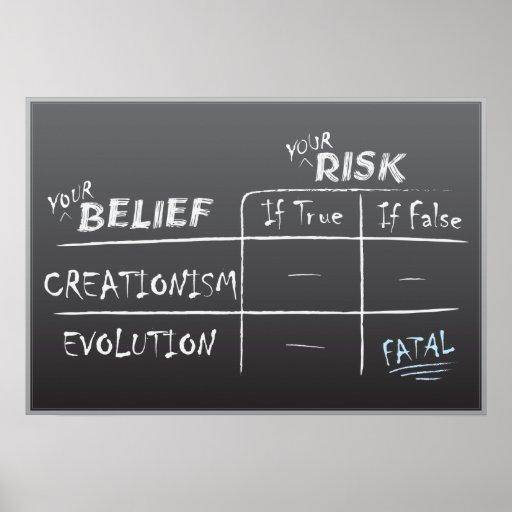 Creación contra la evolución póster