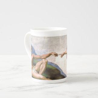 Creación de Adán de Miguel Ángel Taza De Porcelana