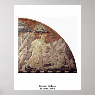 Creación de Adán de Paolo Uccello Poster