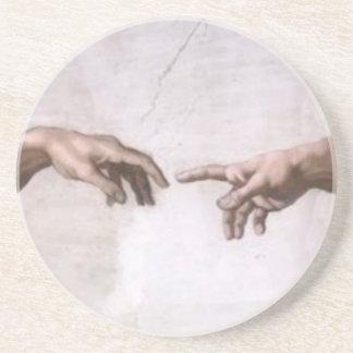 Creación de Adán (detalle-manos) Posavasos Manualidades