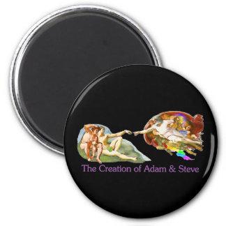 Creación de Adán y de Steve Imán Para Frigorífico
