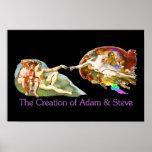 Creación de Adán y de Steve Poster