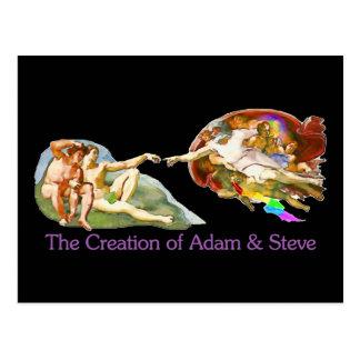 Creación de Adán y de Steve Postal