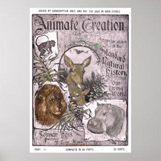 """""""Creación de Hess -1898-Animate del Vintage-Selmar Póster"""