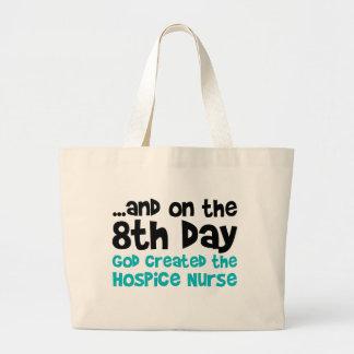 Creación de la enfermera del hospicio bolsa tela grande
