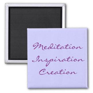 Creación de la inspiración de la meditación imán cuadrado
