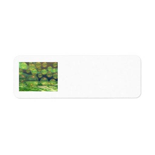 Creación de la primavera - verde y renovación del  etiquetas de remite