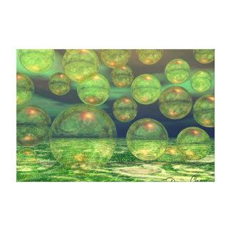 Creación de la primavera - verde y renovación del  lona estirada galerías