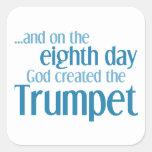 Creación de la trompeta calcomanía cuadradas personalizadas