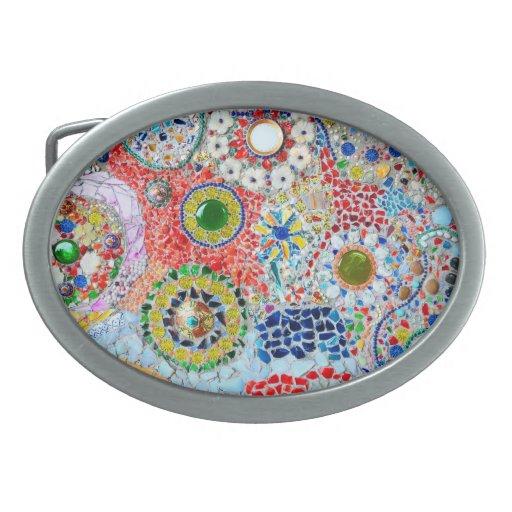 creación de mosaico hebillas cinturón ovales