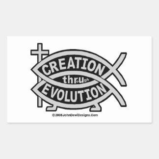 CREACIÓN por el pegatina de la EVOLUCIÓN