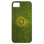 Creaciones concretas verdes de la EC iPhone 5 Case-Mate Protector