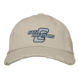 Creaciones de Caza - logotipo blanco Gorra De Beisbol