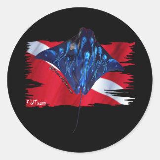Creaciones de la bandera de DiverDown Etiqueta