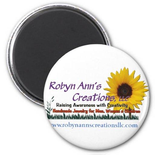 Creaciones de Robyn Ana, LLC Imán Redondo 5 Cm