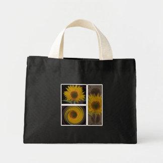 Creaciones de un bolso del girasol bolsa tela pequeña