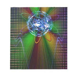 Creaciones en el espectro de color del arco iris 2 bloc de notas