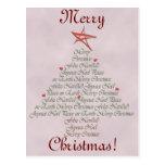 Creaciones festivas del árbol de navidad postal