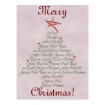 Creaciones festivas del árbol de navidad tarjetas postales