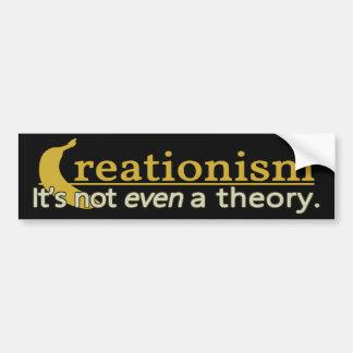 Creacionismo: No es incluso pegatina para el parac Pegatina De Parachoque