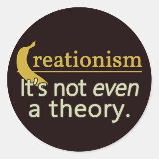 Creacionismo No es incluso una teoría Pegatina Redonda