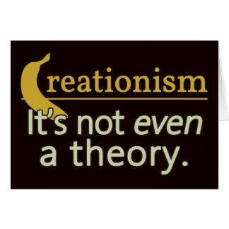 Creacionismo No es incluso una teoría Tarjetón