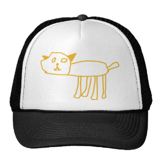 Creado por los niños, gato feliz del gatito por el gorros bordados