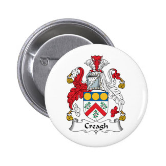 Creagh Family Crest 2 Inch Round Button