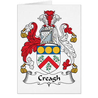 Creagh Family Crest Greeting Card
