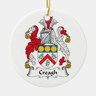 Creagh Family Crest Double-Sided Ceramic Round Christmas Ornament