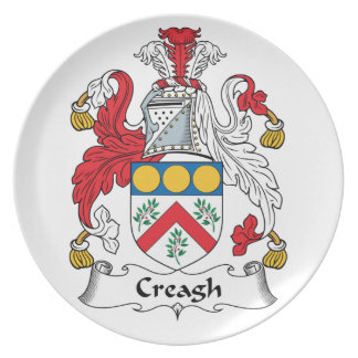 Creagh Family Crest Plate